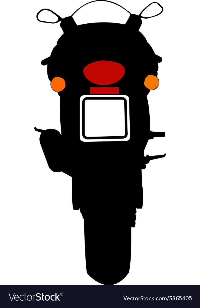 Motorcycle silhouette vector