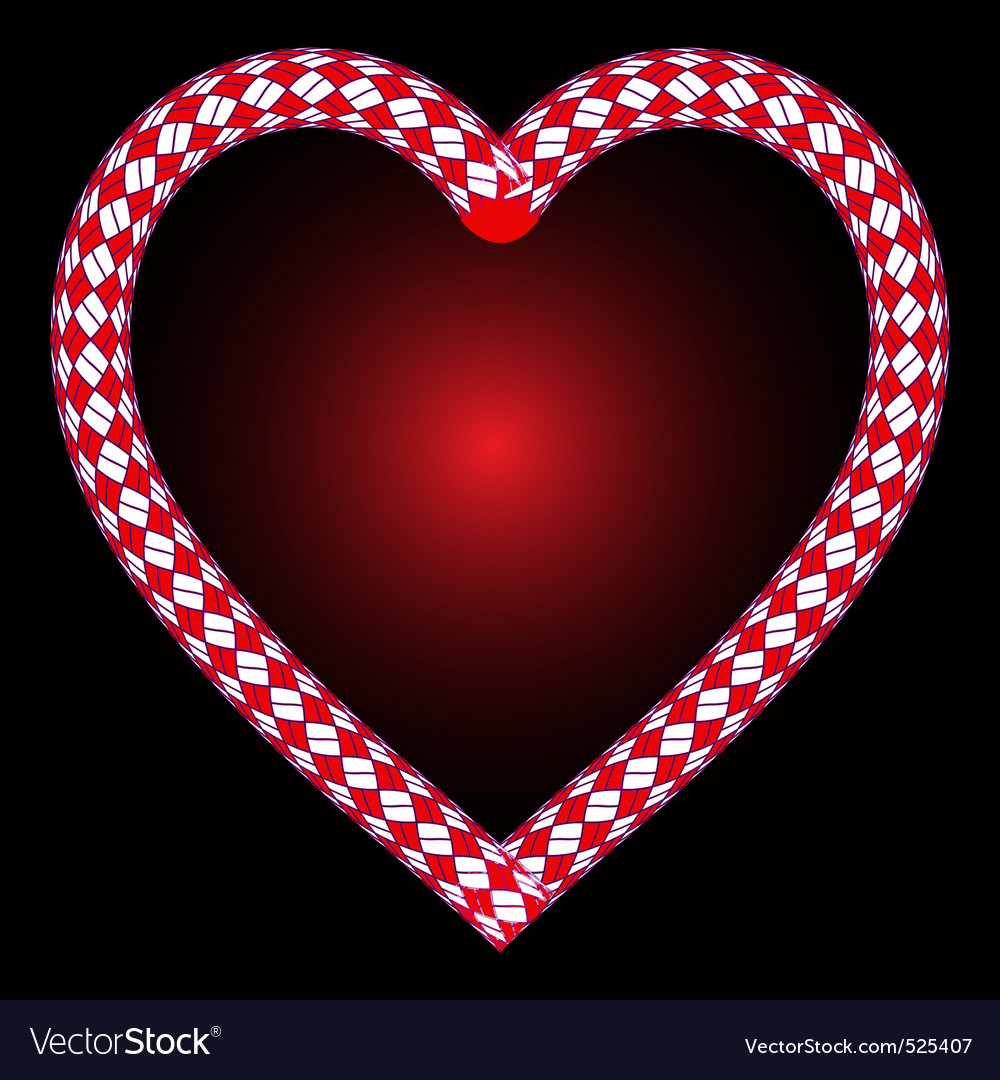 Rope heart vector