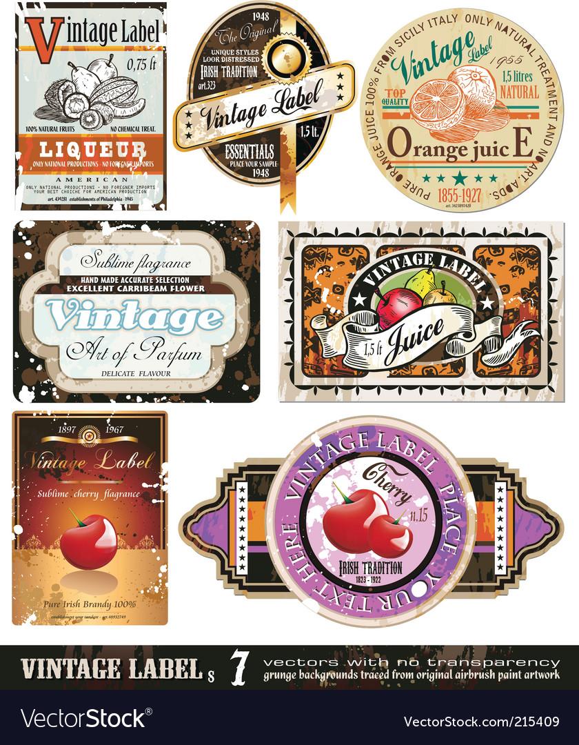 Vintage labels collection set vector