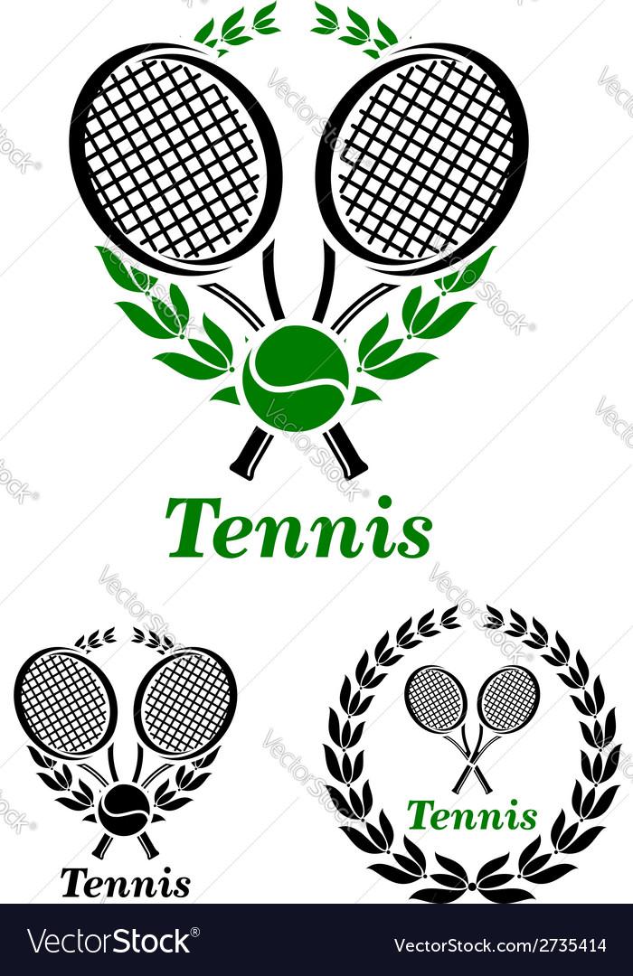 Tennis sporting emblem or logo vector