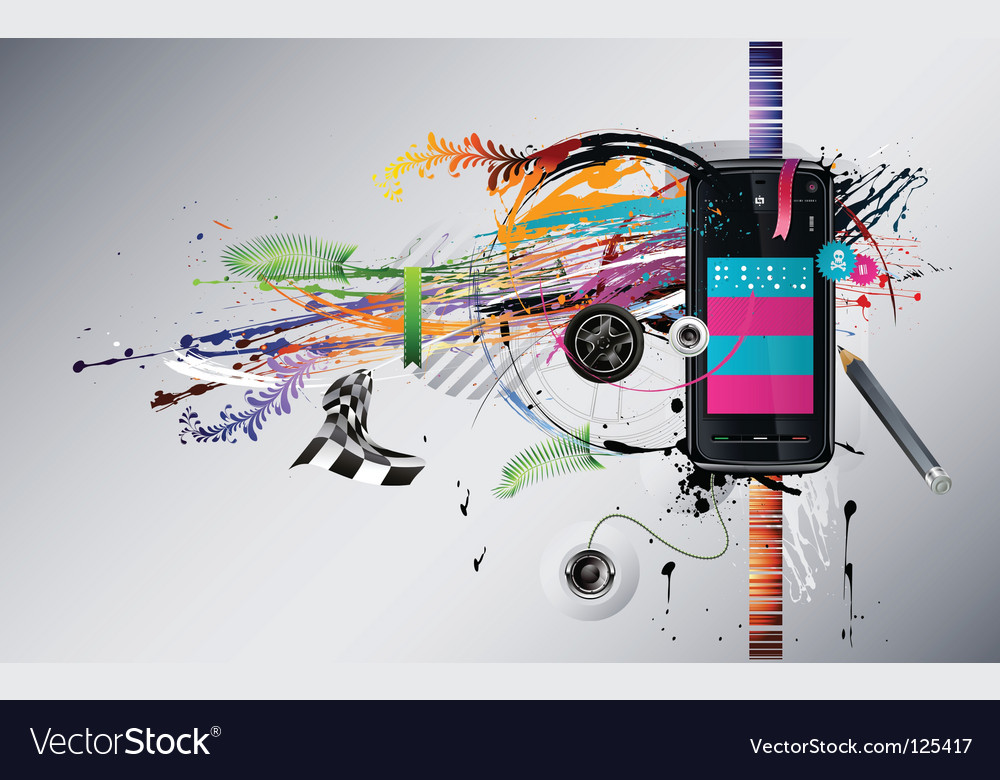 Dirty abstract grunge background telephone vector
