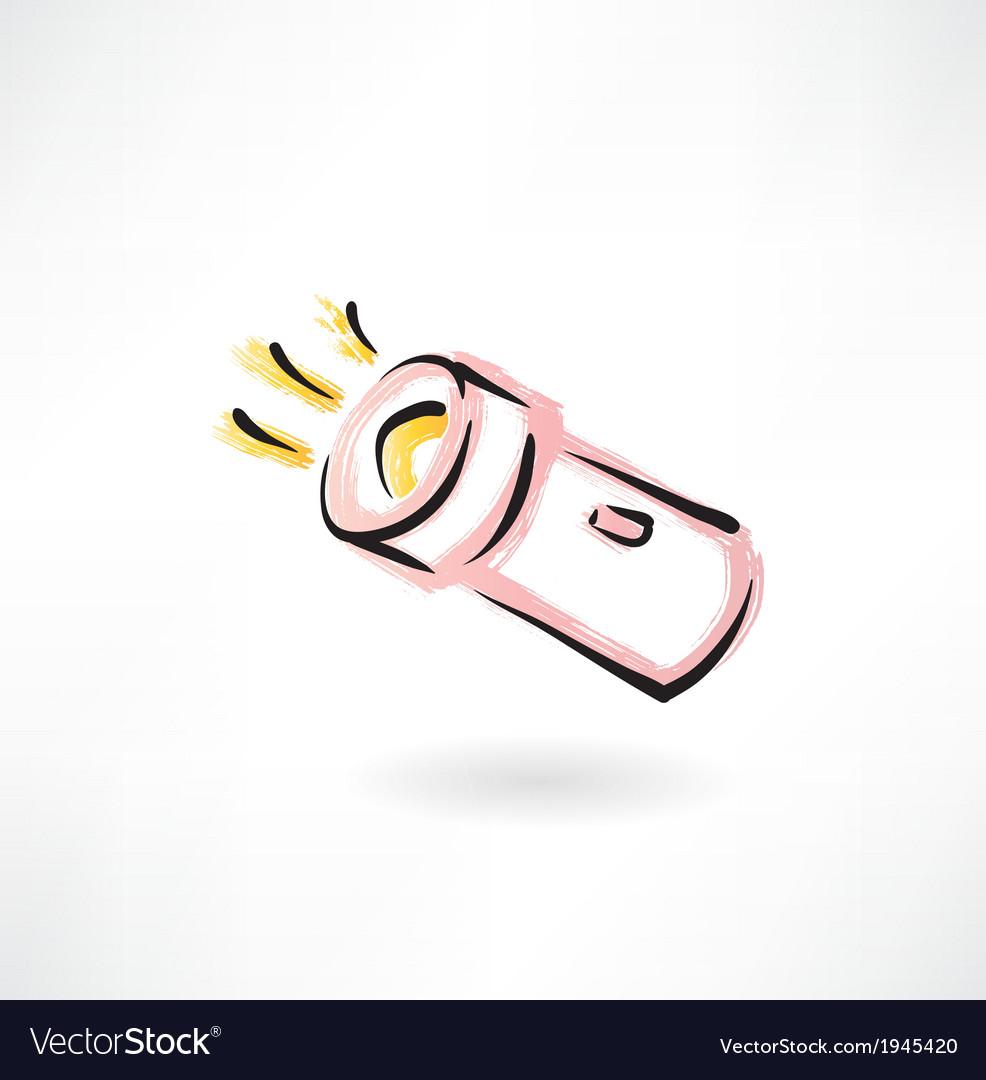 Flashlight grunge icon vector