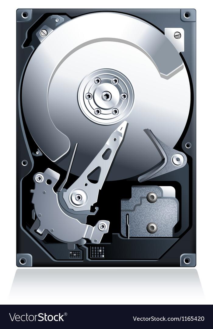 Hard disk drive hdd vector
