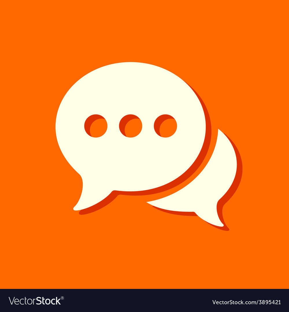 Flat chat icon vector