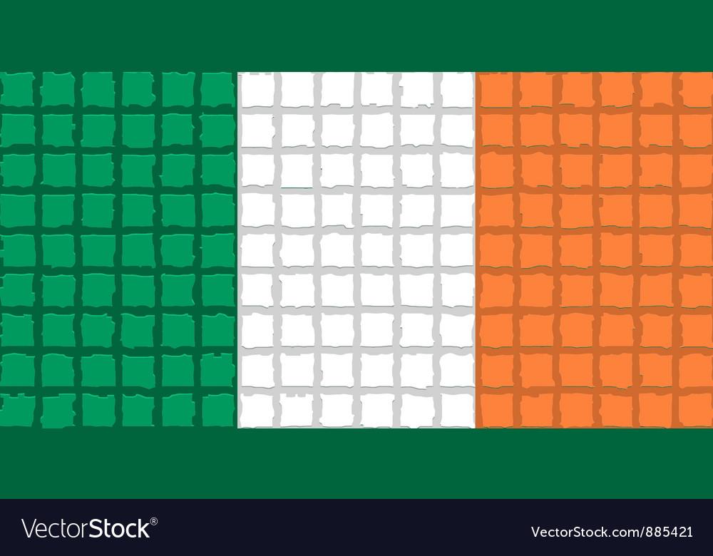 The mosaic flag of ireland vector