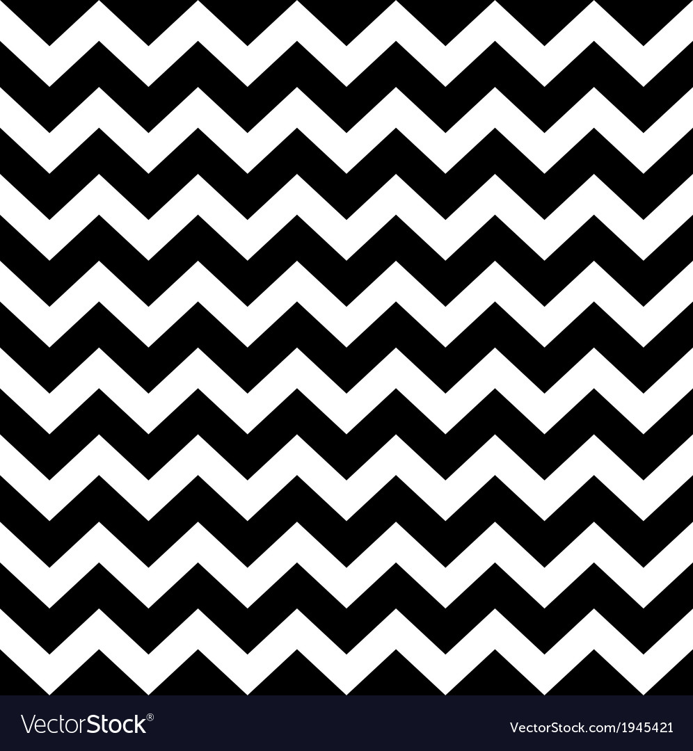 Zig zag simple pattern - black and white vector