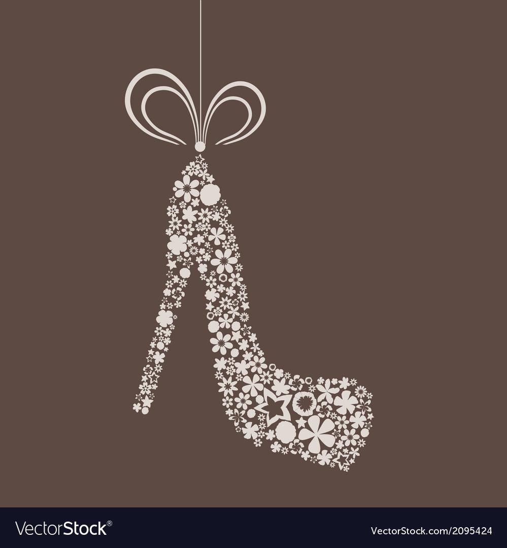 Flower shoe vector