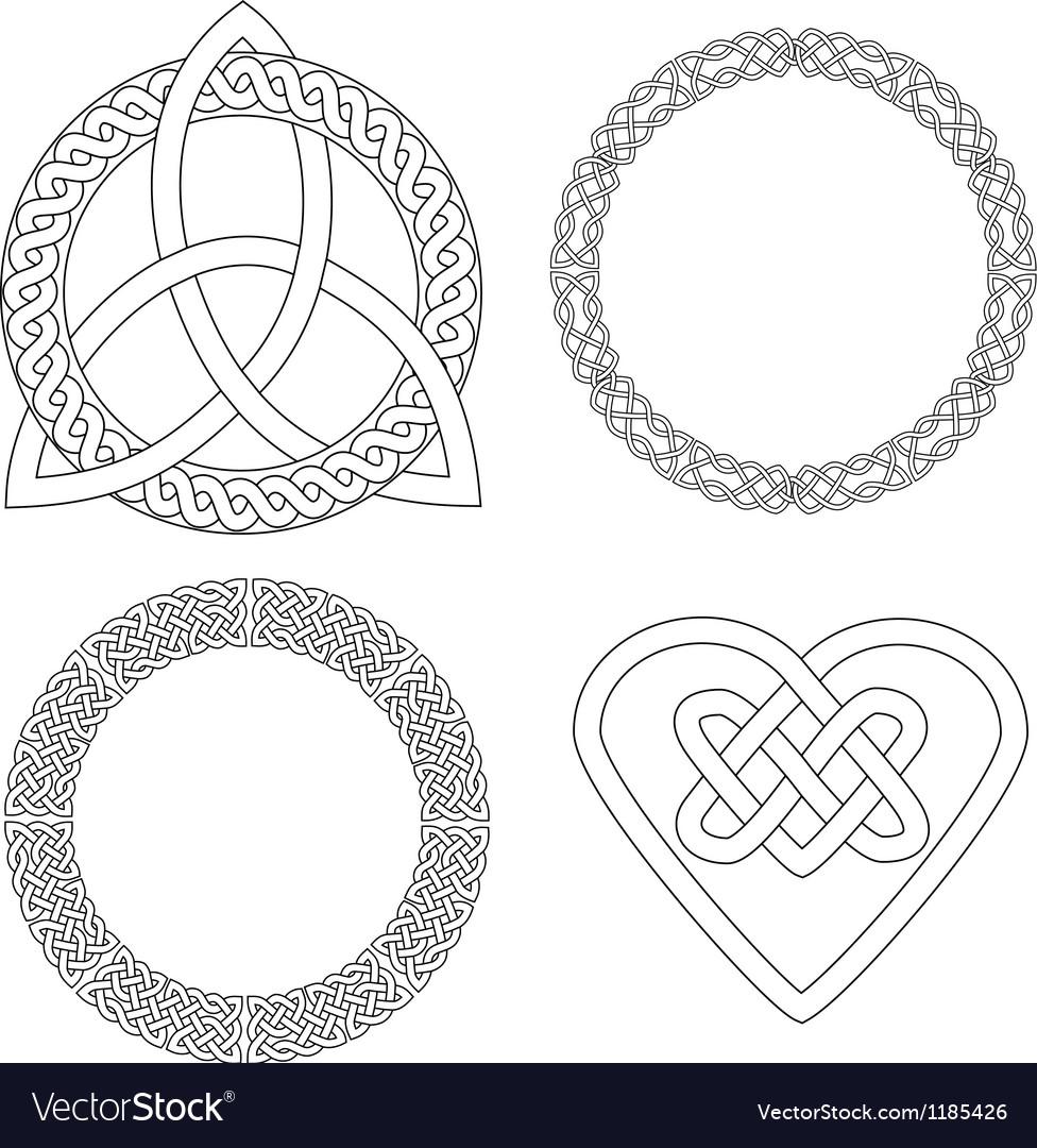 4 celtic patterns vector