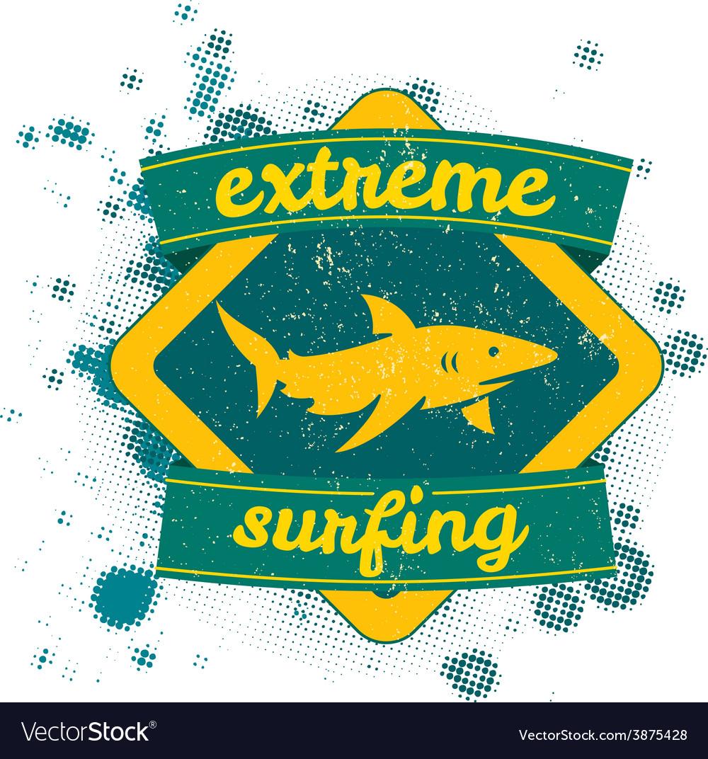 Drawingcalifornia surf beach summer vector