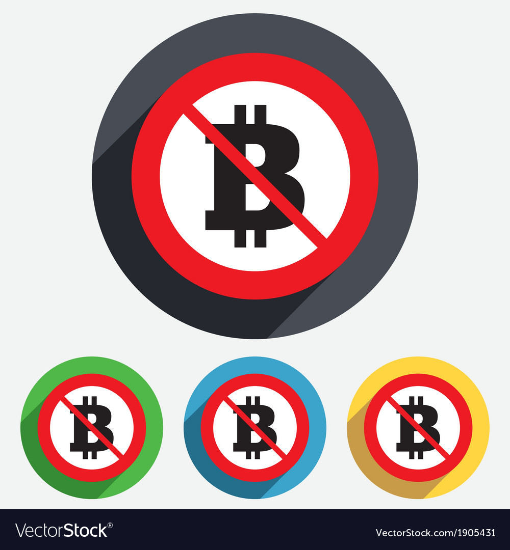No bitcoin sign icon cryptography currency symbol vector
