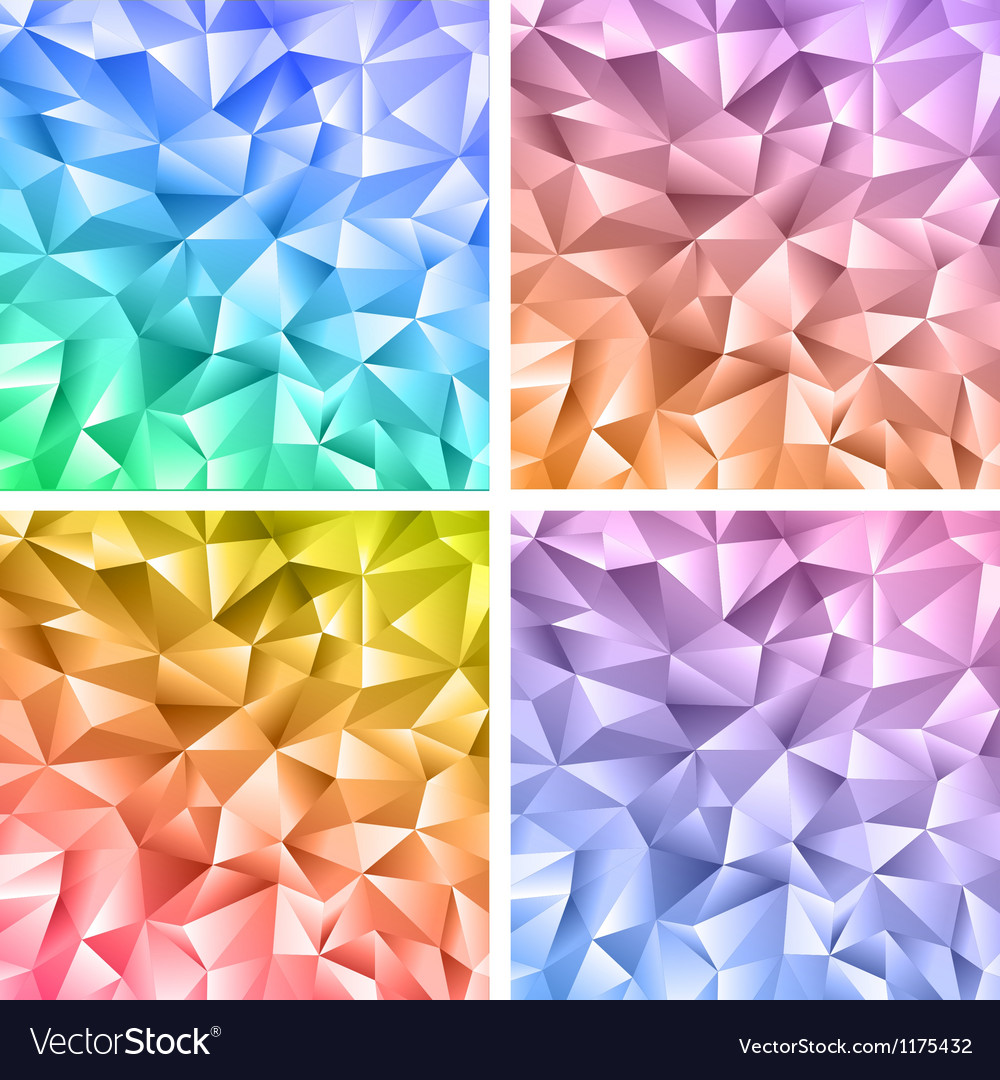 Abstract crystal colorful backgrounds vector