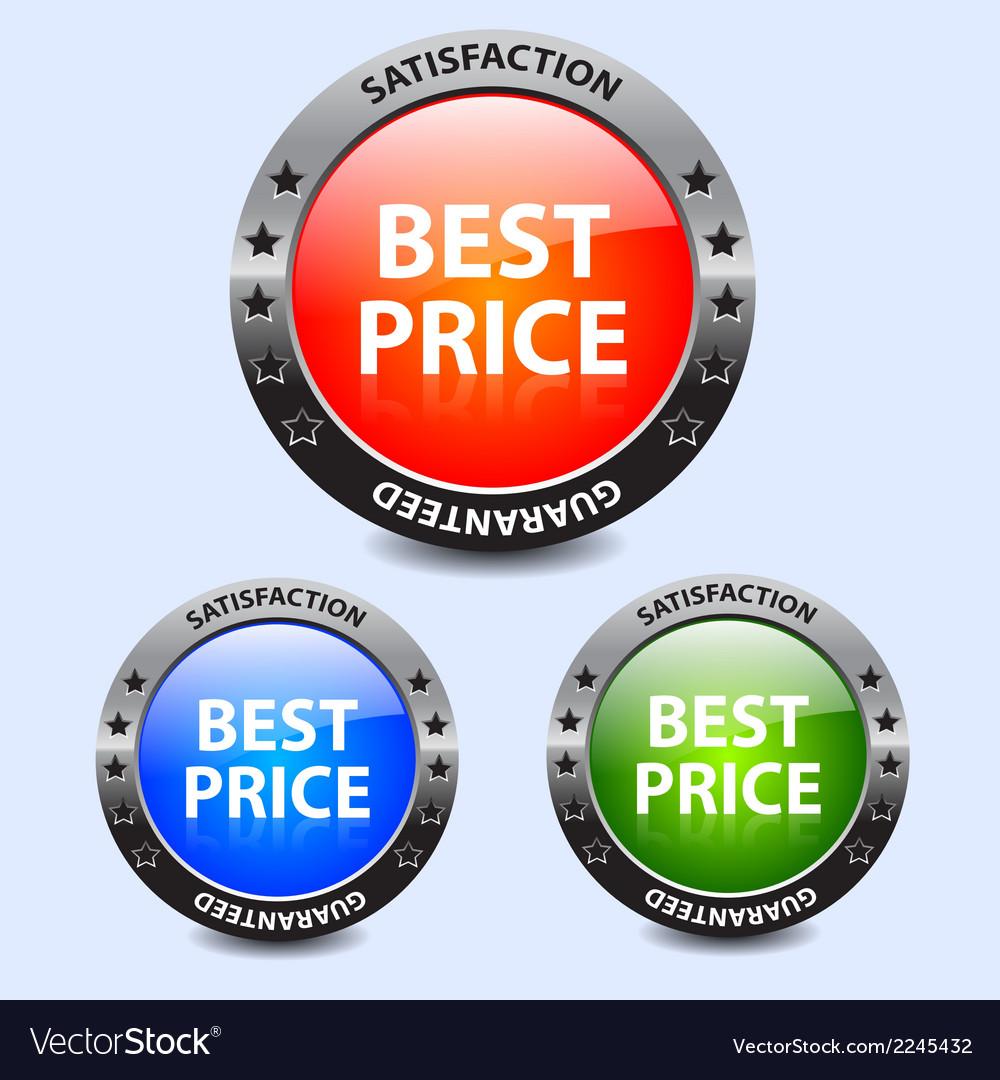 Best price badges vector