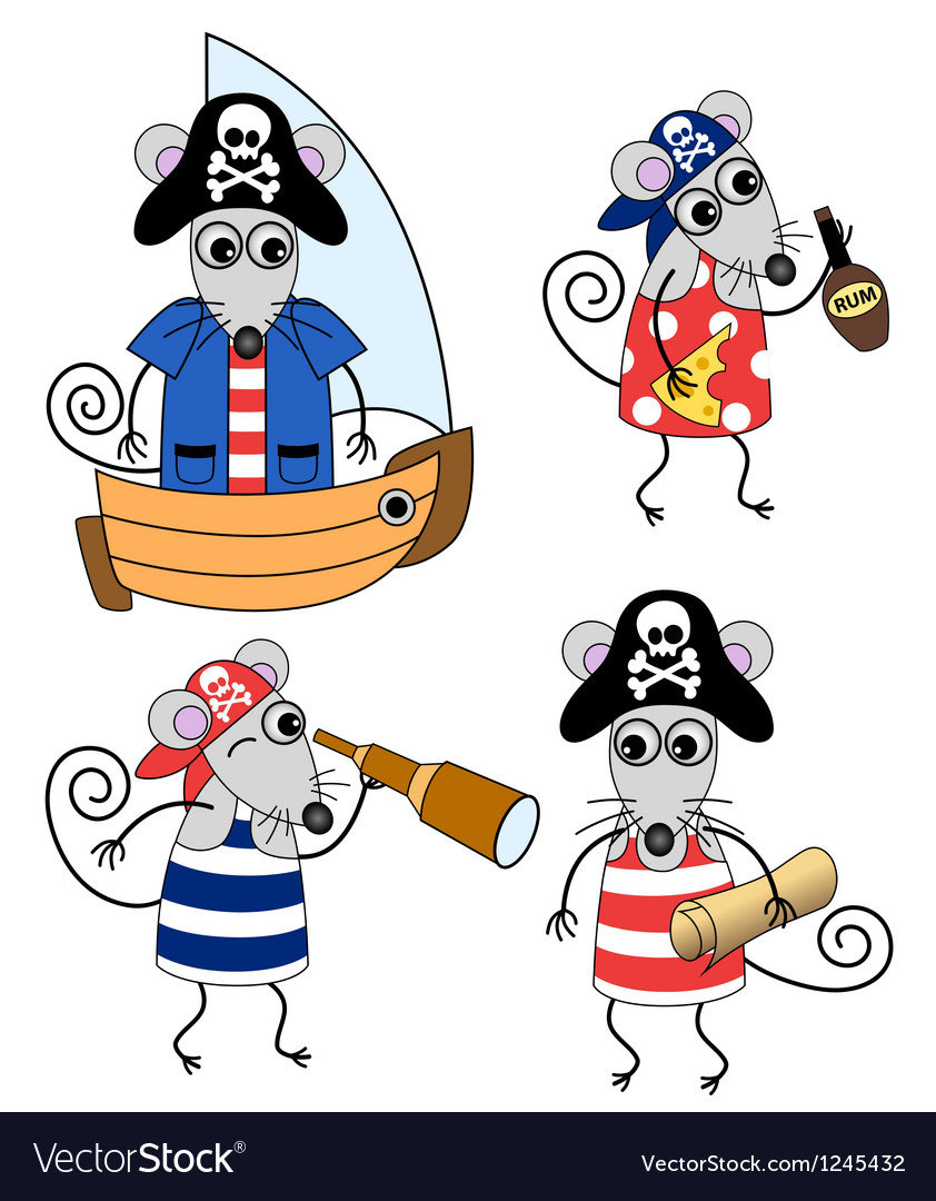 Mouse pirates vector