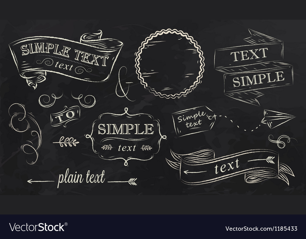 Chalk design elements vector
