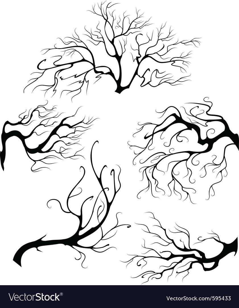 Liquid branches vector