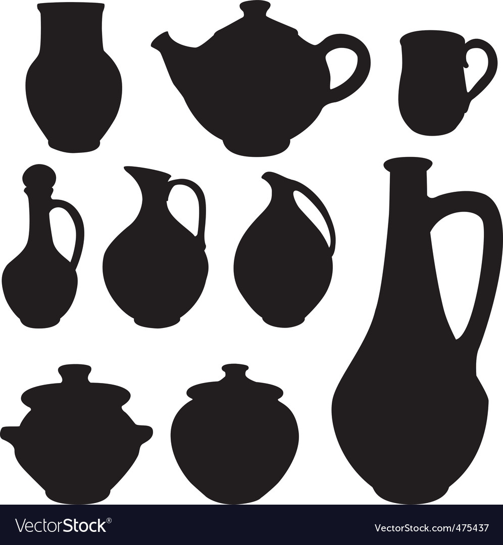 Antique silhouette set ware vector