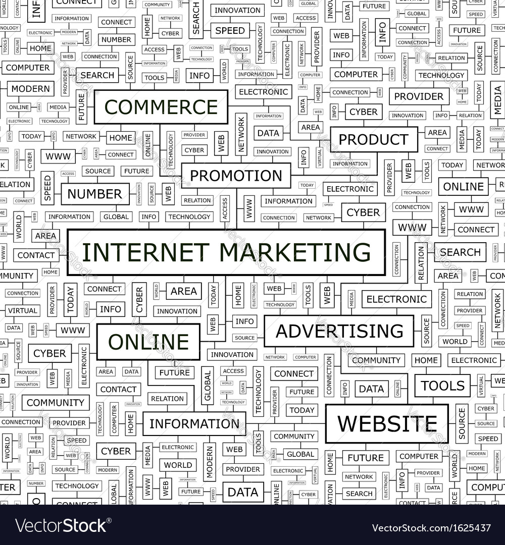 Internet marketing vector