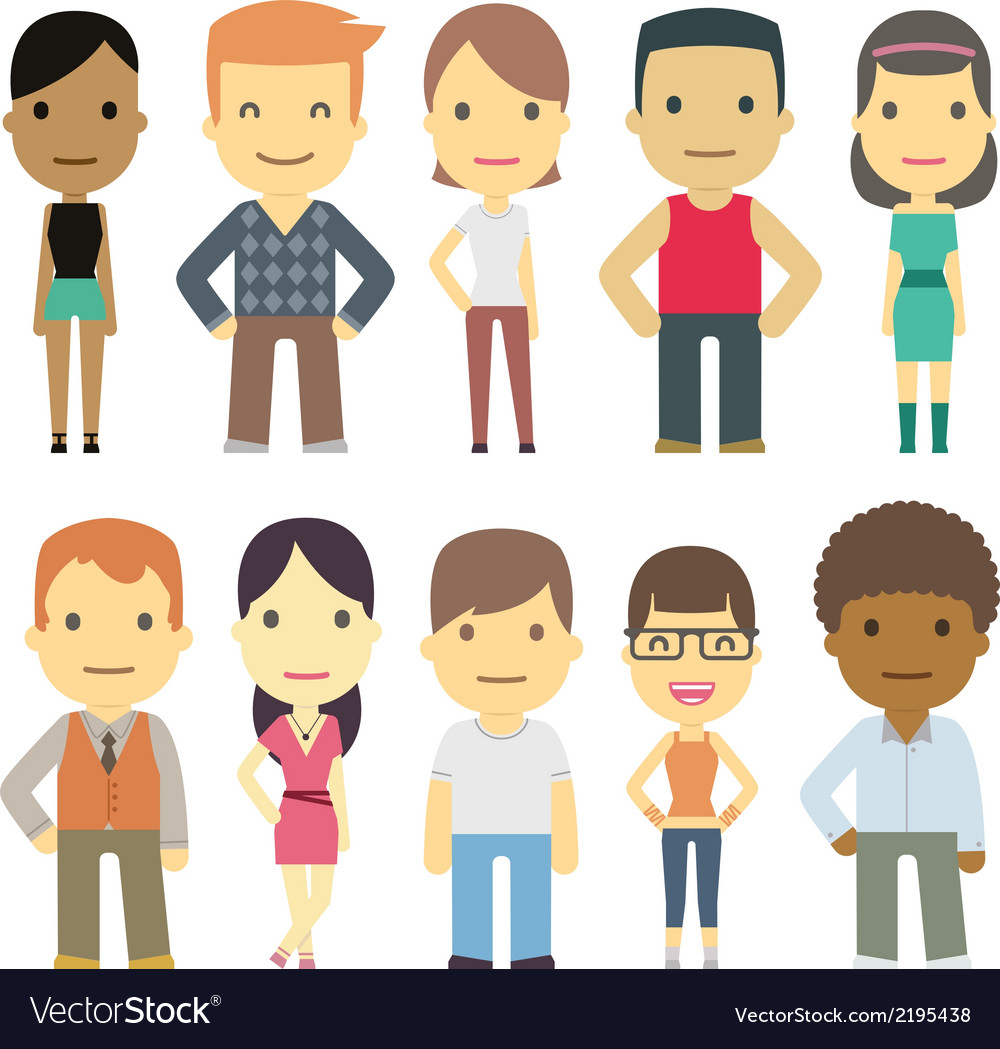 Set of urban characters vector