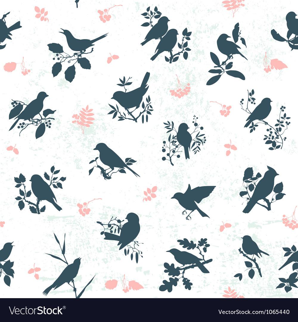 Songbirds seamless vector