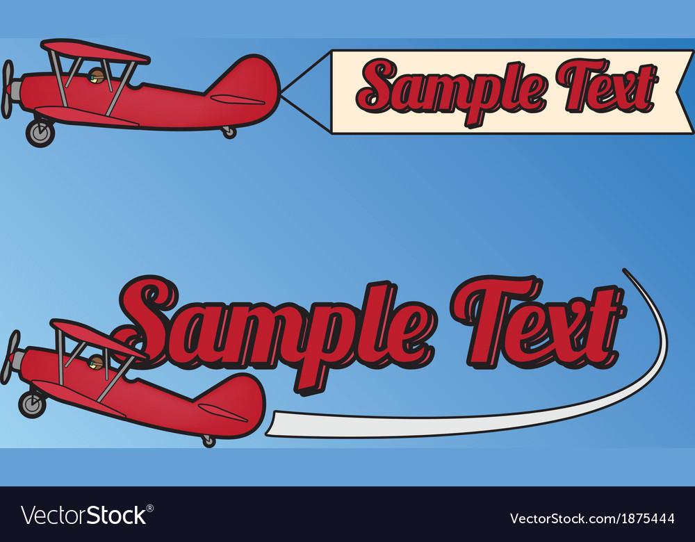 Plane flag vector