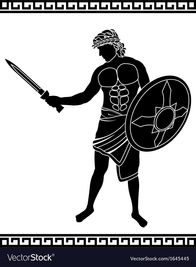 Ancient swordsman vector