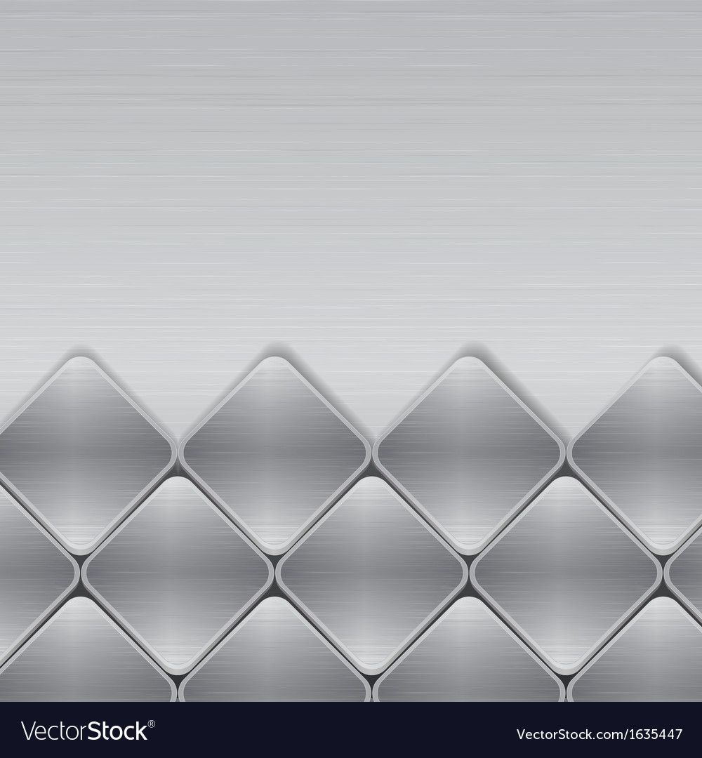 Brushed metal mosaic background vector
