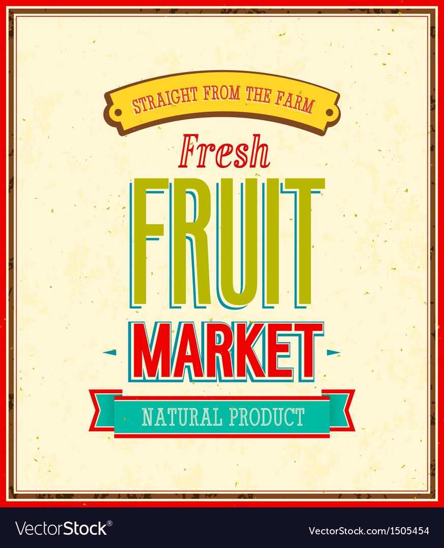 Fruit market design vector