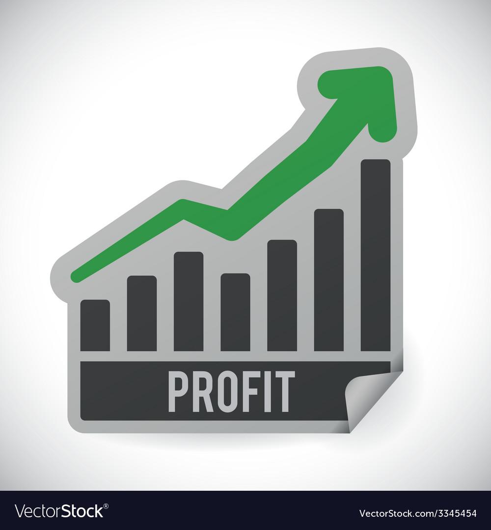 Profit design vector