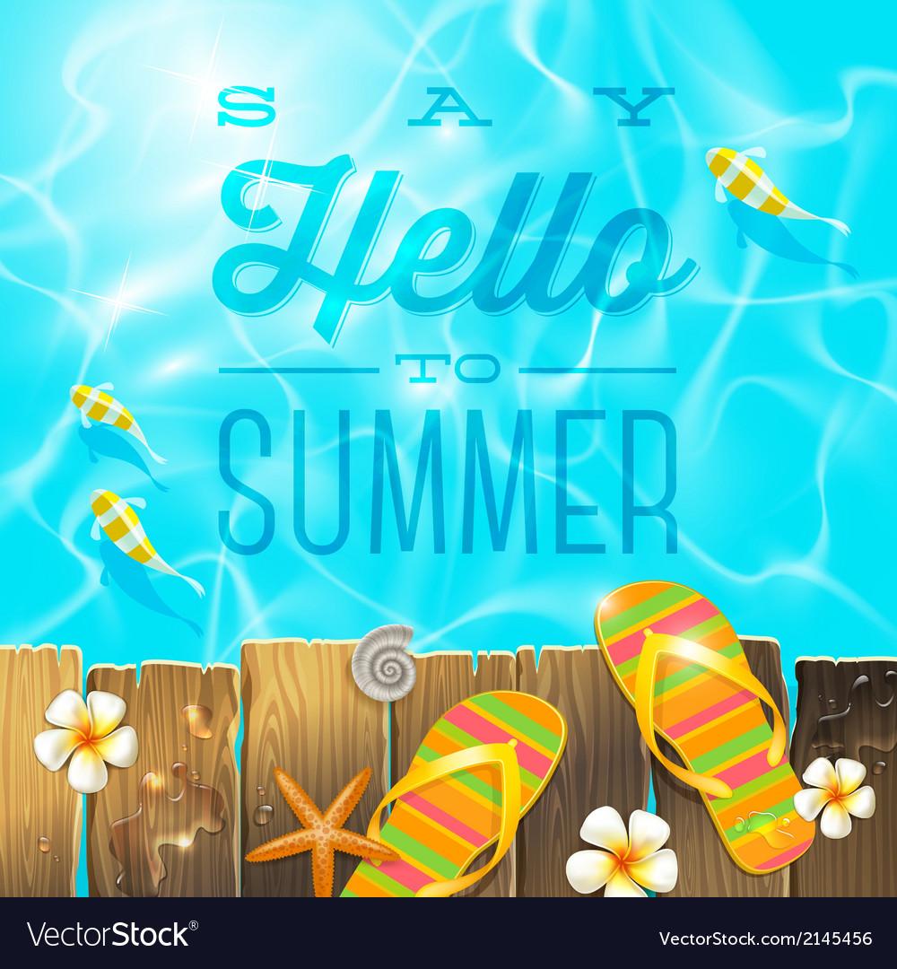 Summer holidays vacation greeting vector
