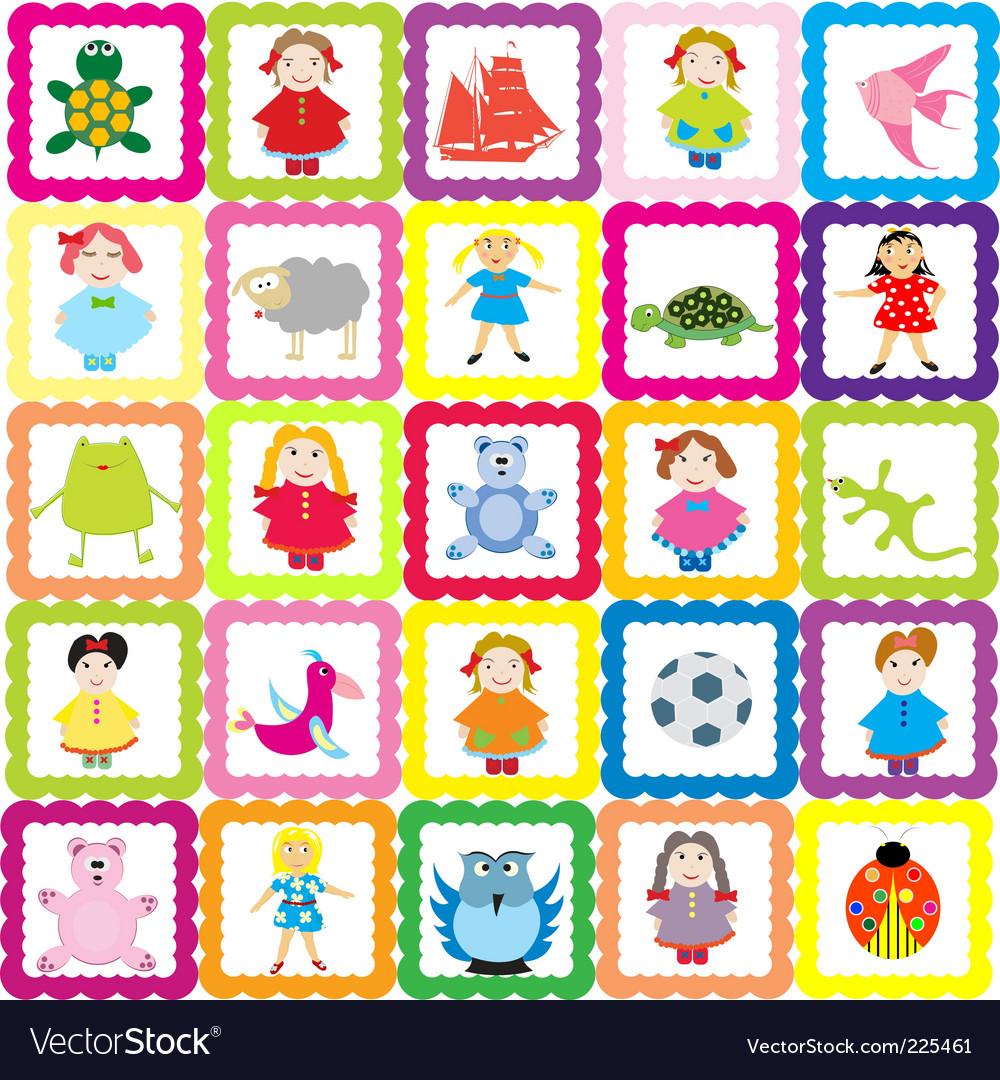 Baby background vector