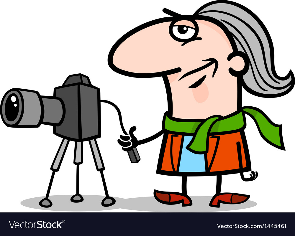 Photographer artist cartoon vector