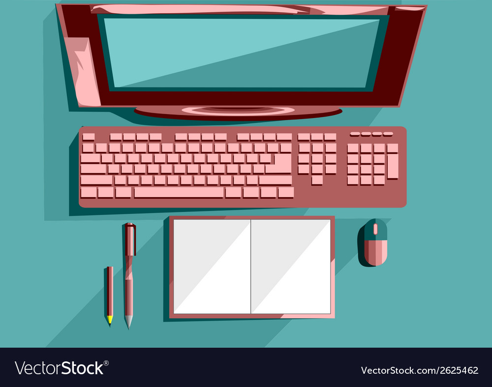 Office table object vector
