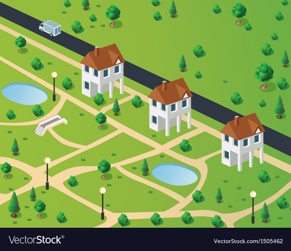 Town houses vector