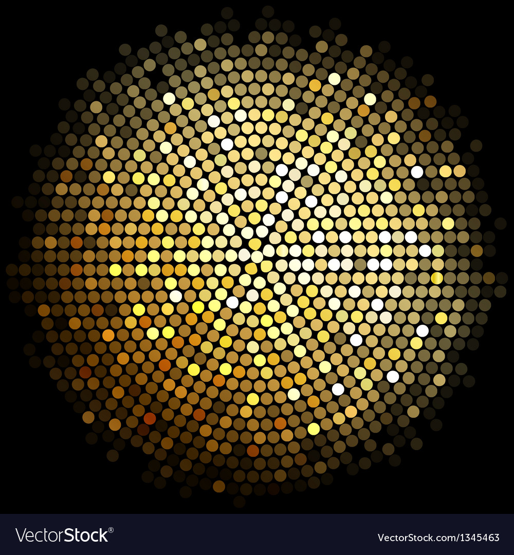 Gold disco lights background vector