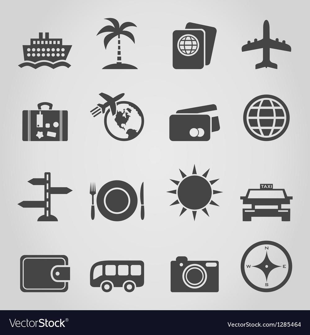 Travel an icon vector