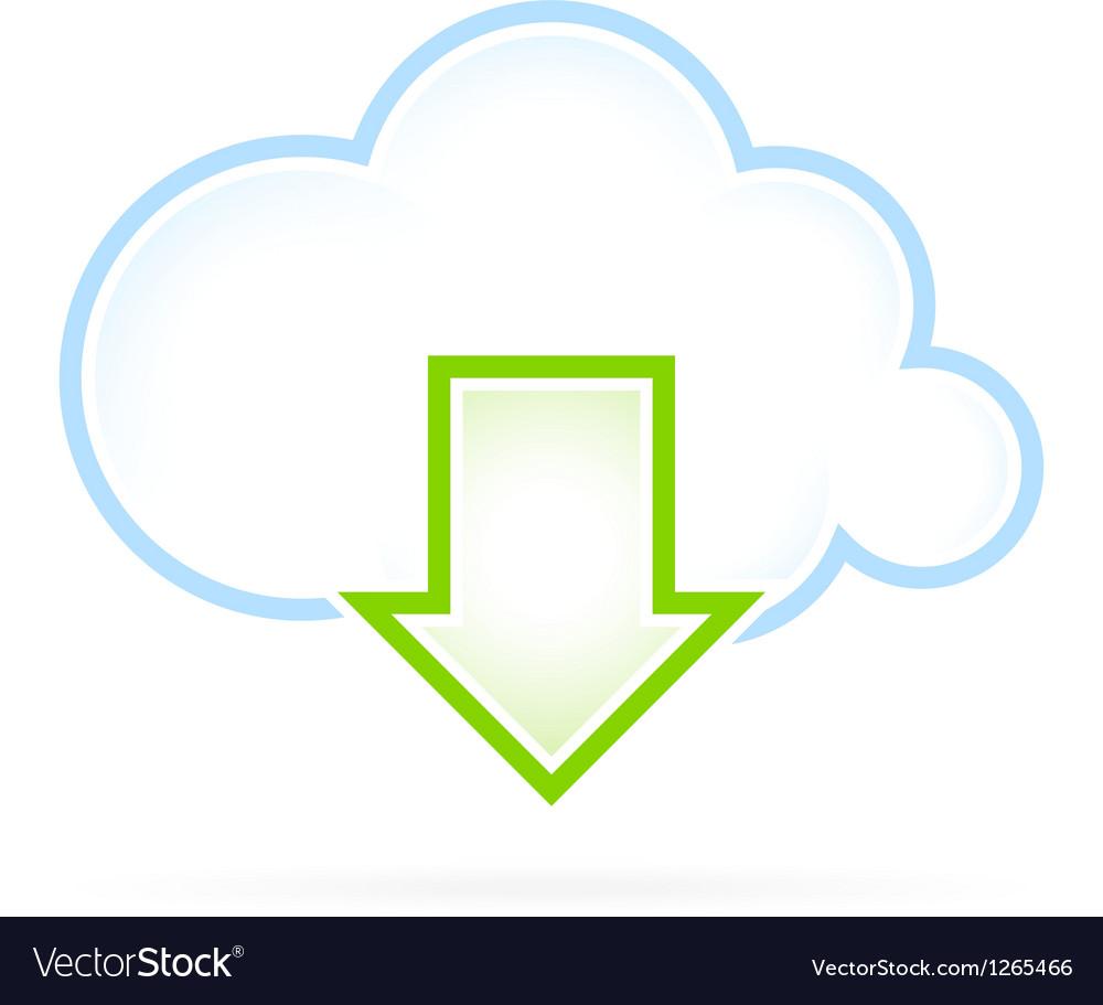 Cloud computing icon download vector