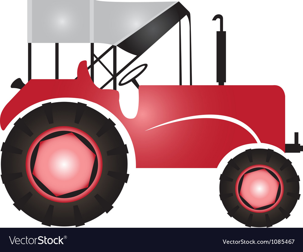 Tractor for agriculture logo vector
