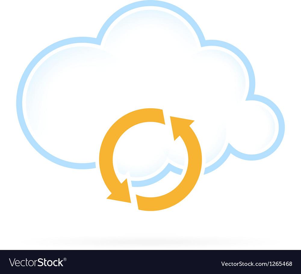 Cloud computing icon conversion vector