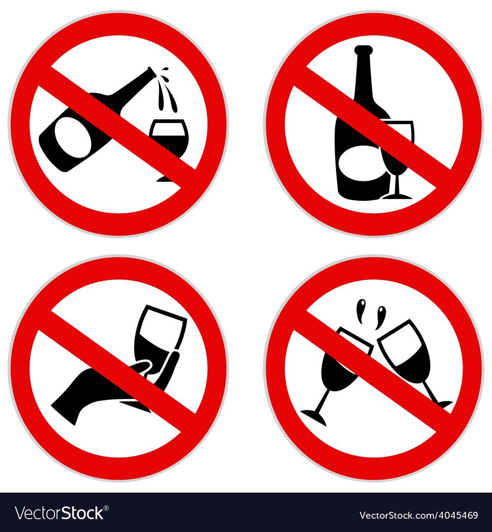 No alcohol symbol vector