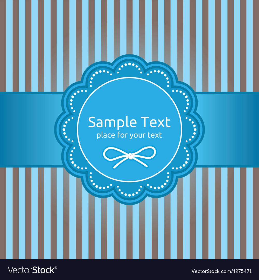 Retro greeting card template design vector