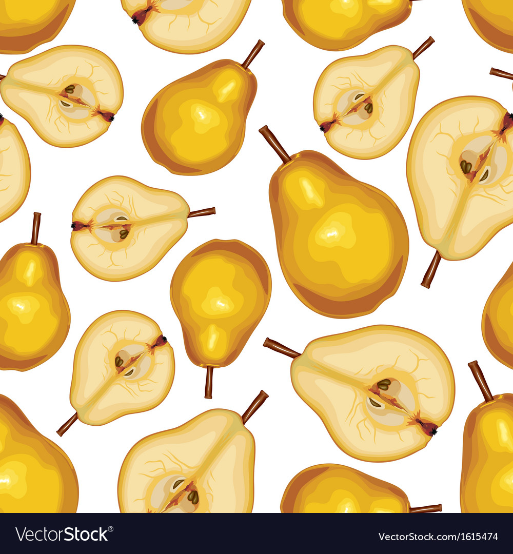 Pear half seamless vector