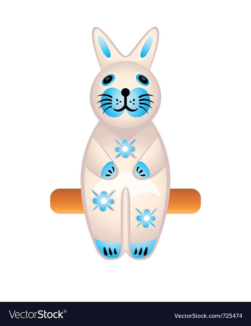 Rabbit toy vector