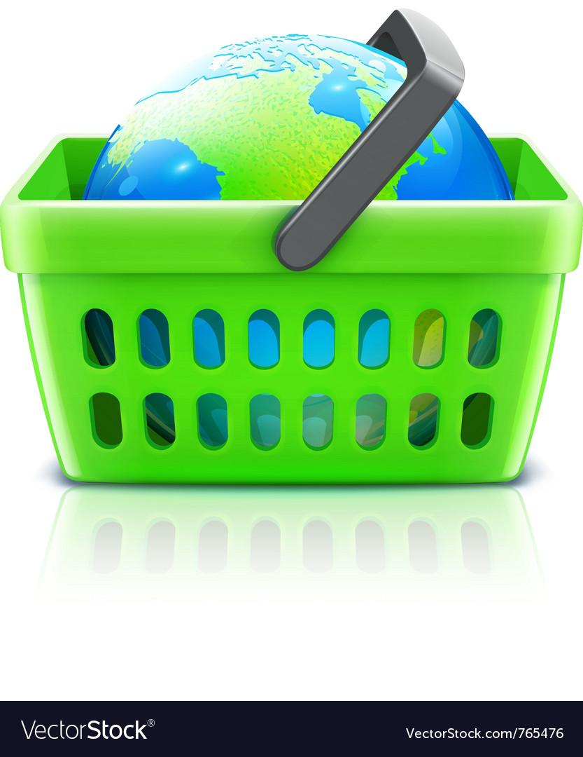 Global shopping concept vector