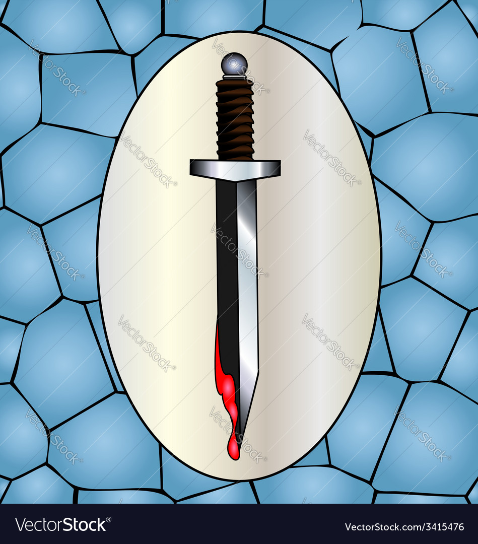 Knife and blood vector