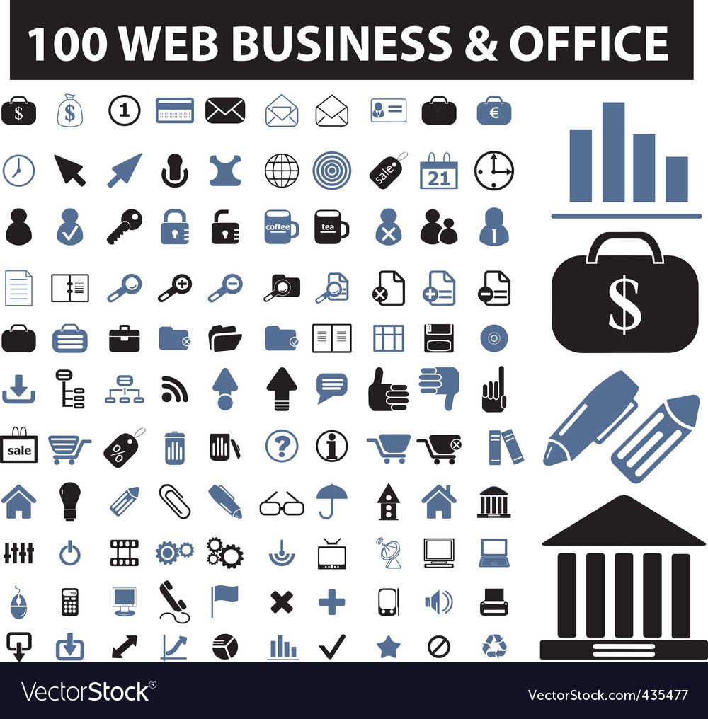 Web business icons vector