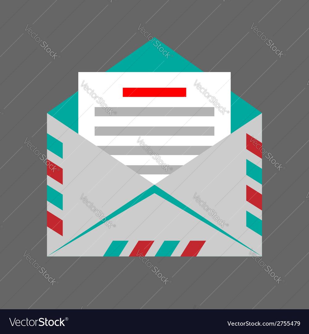 Envelope on gray background vector