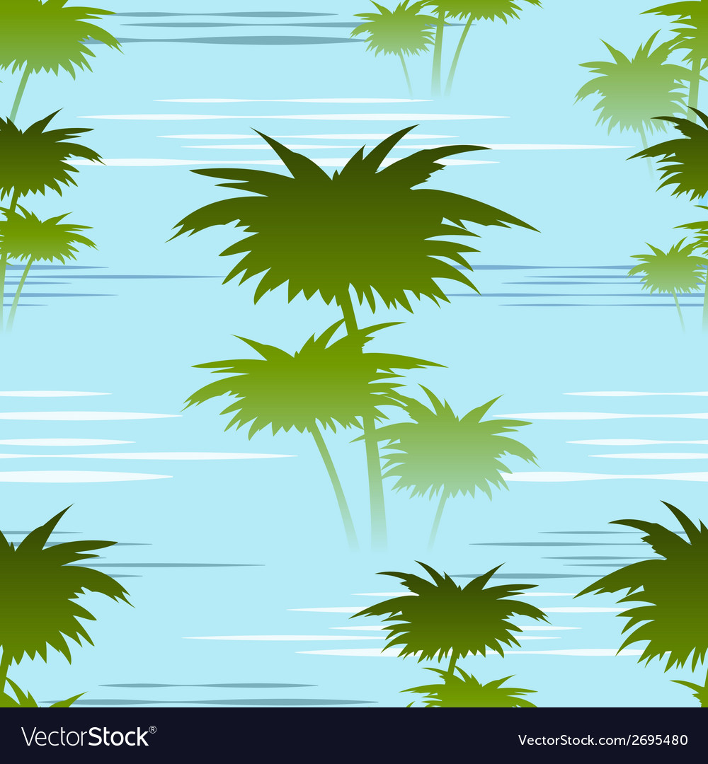 Morning jungles seamless pattern vector