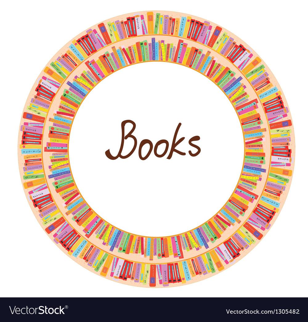 Book frame circle design vector