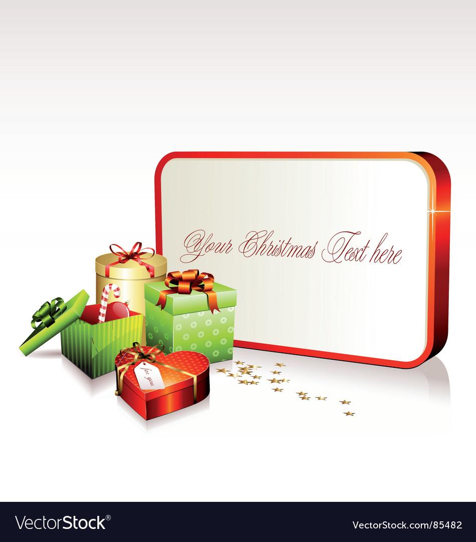 Christmas sign vector