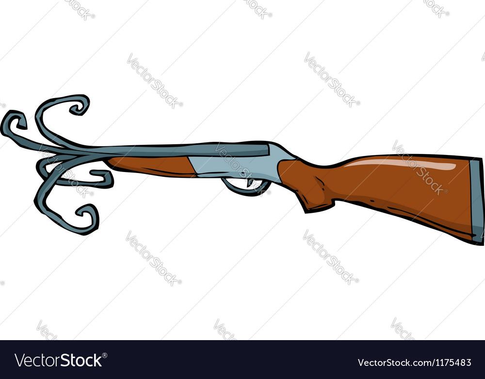 Shotgun barrel with a torn vector